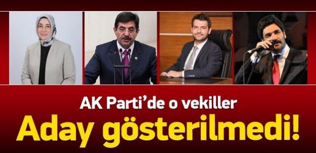 AK Parti'de o vekiller aday gösterilmedi