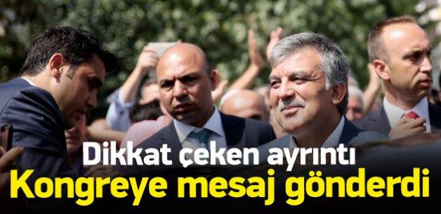 AK Parti kongresinde Gül'ün mesajı okundu