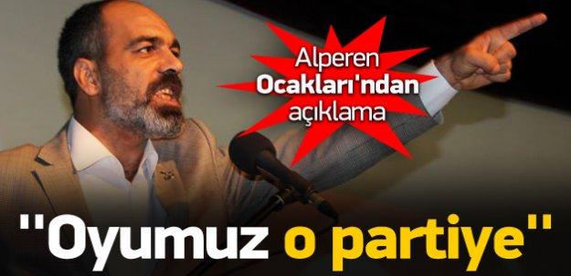 Alperen Ocakları: Oyumuz AK Parti'ye