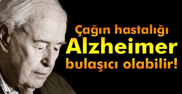 Alzheimer bulaşabilir