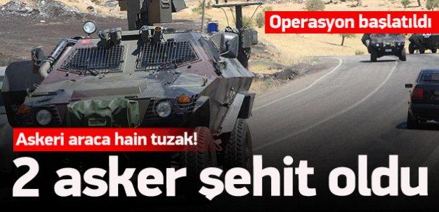 Askeri araca hain tuzak: 2 şehit