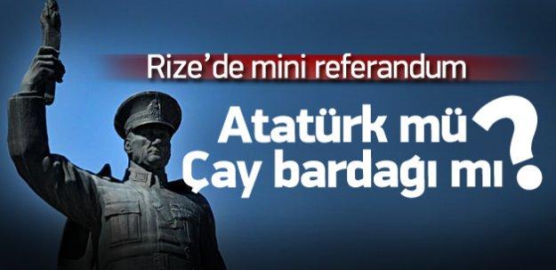 Atatürk heykeli için Rize'de referandum yapılacak
