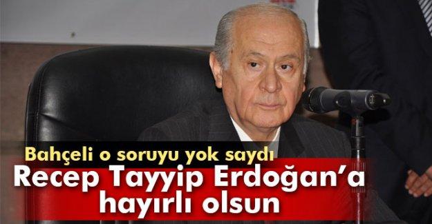 Bahçeli, Tuğrul Türkeş sorusuna cevap vermedi
