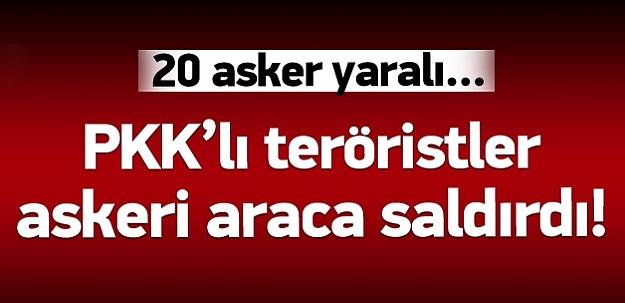 Bitlis'te askeri araca saldırı: 20 asker yaralı!