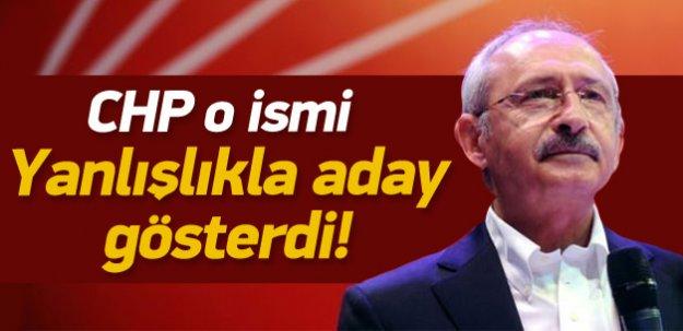 CHP, Ali Özgündüz'ü yanlışlıkla aday gösterdi