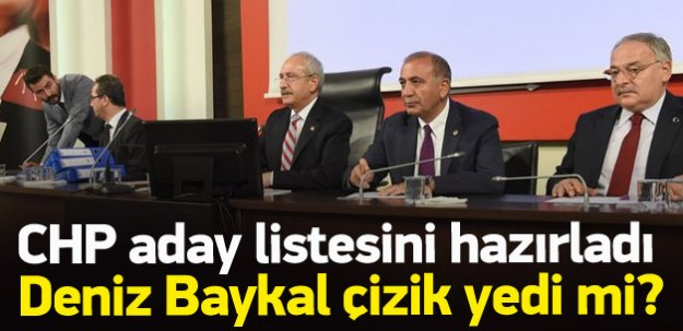 CHP'de milletvekili aday listesi netleştirildi