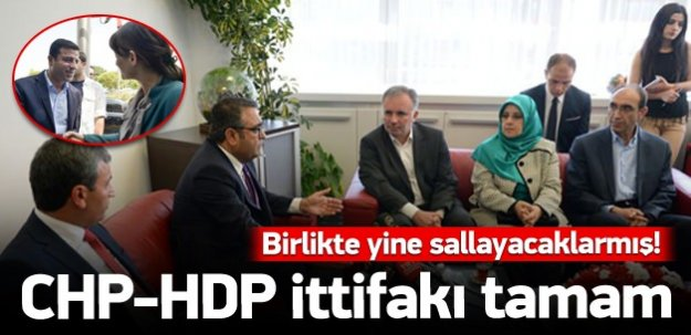 CHP-HDP ittifakı tamam