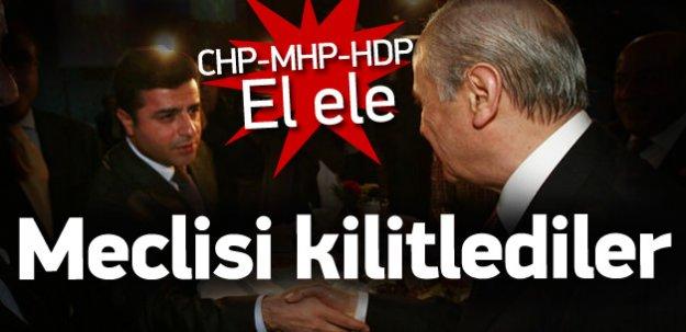 CHP-MHP ve HDP yan yana
