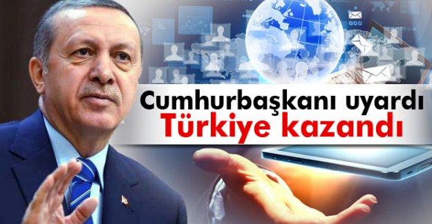 Cumhurbaşkanı uyardı, Türkiye kazandı