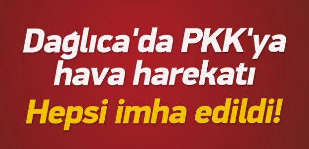 Dağlıca'da PKK'ya hava harekatı