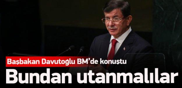 Davutoğlu BM'de konuştu