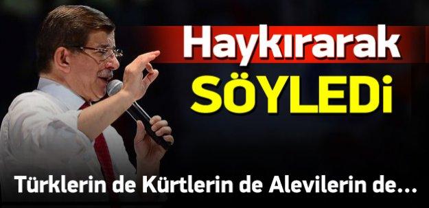 Davutoğlu: Kürtler'in devleti Türkiye'dir