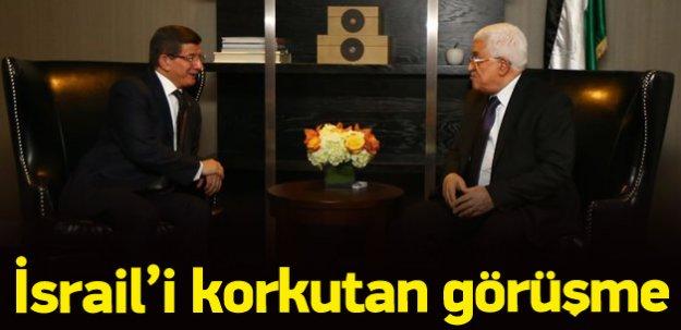 Davutoğlu, Mahmud Abbas'la bir araya geldi
