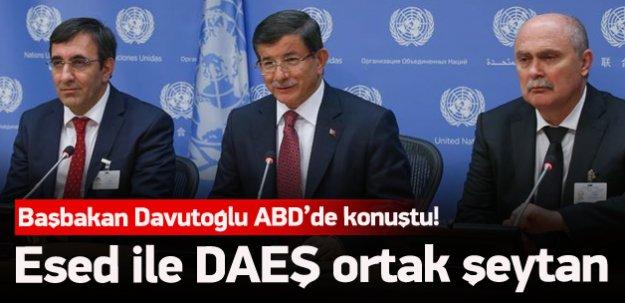 Davutoğlu'ndan ABD'de önemli açıklamalar