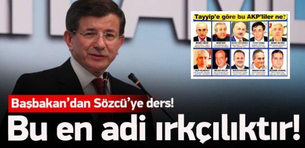 Davutoğlu'ndan Sözcü'ye sert tepki!