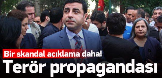 Demirtaş'tan terör propagandası