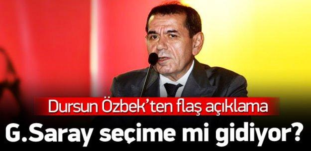 Dursun Özbek'ten flaş seçim açıklaması!