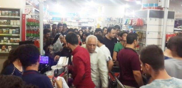 Duyan herkes marketlere akın etti