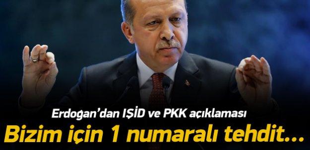 Erdoğan: Bizim için 1 numaralı tehdit PKK'dır