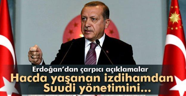 Erdoğan'dan Mina'daki izdihamla ilgili çarpıcı açıklamalar