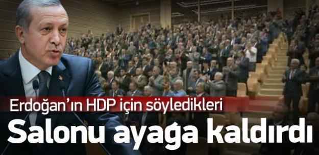 Erdoğan'ın sözlerini muhtarlar ayakta alkışladı