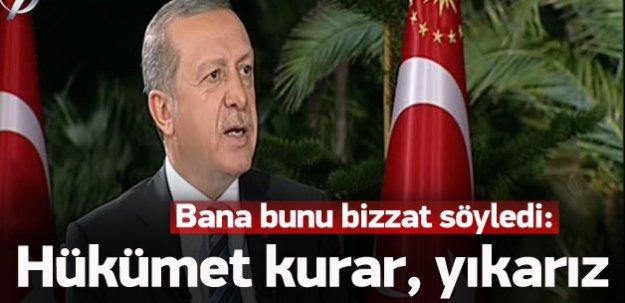 Erdoğan 'İskele Sancak'ta gündemi değerlendirdi