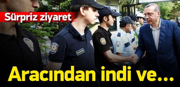 Erdoğan polislerle bayramlaştı