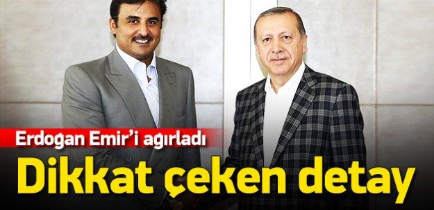 Erdoğan Tamimi görüşmesinde dikkat çeken detay