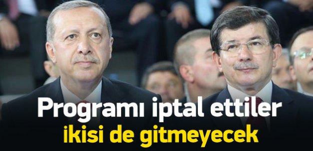Erdoğan ve Davutoğlu'nun Konya programı iptal