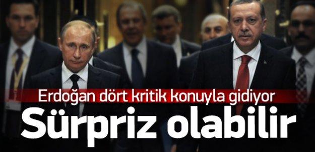 Erdoğan yarın gidiyor! Masada 4 başlık var