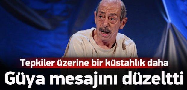 Genco Erkal güya skandal mesajını düzeltti