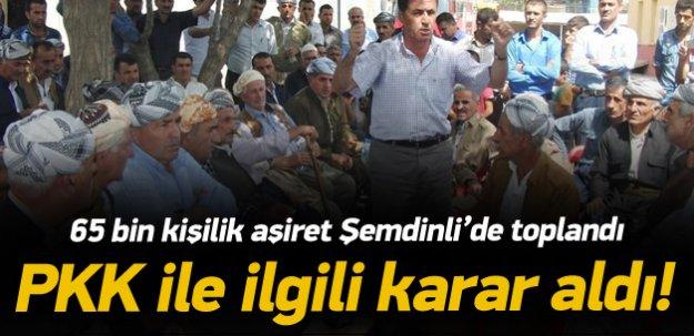 Gerdi Aşireti, PKK ile ilgili karar aldı!