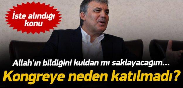 Gül'den AK Parti kongresi açıklaması