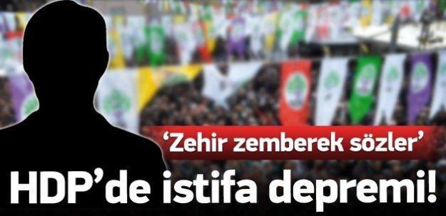 HDP'de deprem: Önemli isim istifa etti!