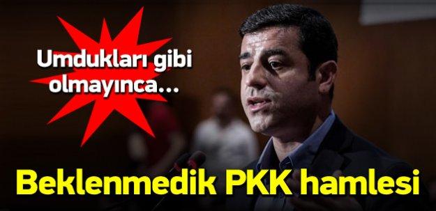 HDP'den beklenmedik PKK hamlesi