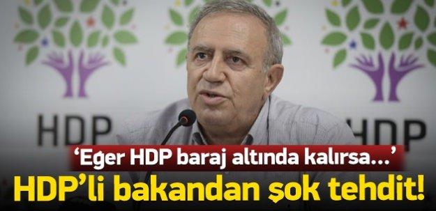HDP'li Bakan'dan şok bölünme tehdidi
