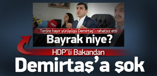 HDP'li bakandan Demirtaş'a şok!