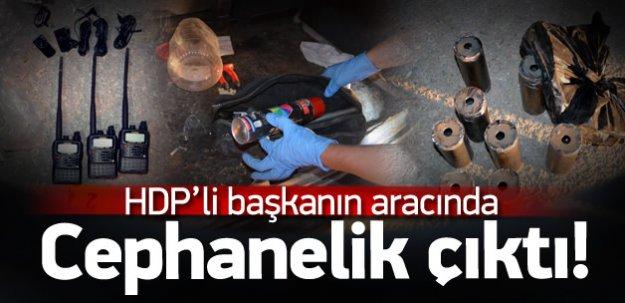 HDP'li başkanın aracında bomba kalıpları bulundu