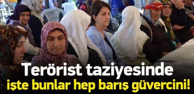 HDP'li Pervin Buldan teröristin taziyesine gitti