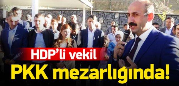 HDP'li vekil PKK mezarlığına gitti
