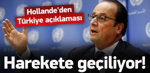 Hollande'den kritik Türkiye açıklaması