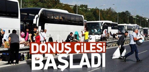 İstanbul'a dönüş çilesi başladı
