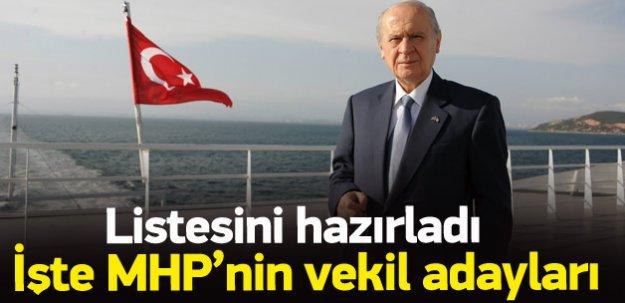 İşte MHP'nin 1 Kasım seçimlerindeki aday listesi