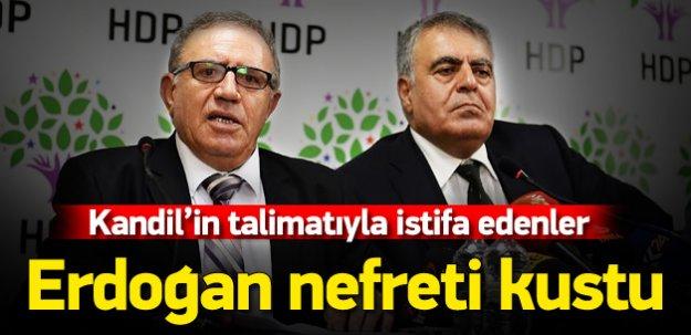 İstifa eden HDP'li bakanlar nefret kustu