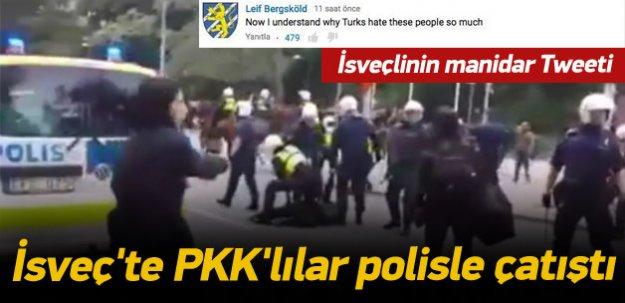 İsveç'te PKK'lılar polisle çatıştı
