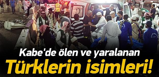 Kabe'de yaralanan Türk hacı adaylarının isimleri