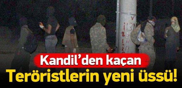 Kandil'den kaçan teröristlerin yeni üssü!