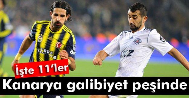 Kasımpaşa-Fenerbahçe maçının 11'leri