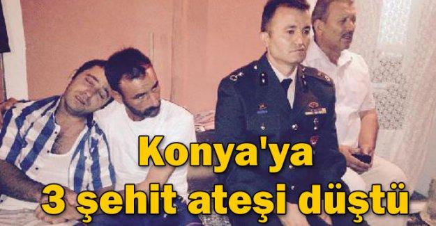 Konya'ya 3 şehit ateşi düştü