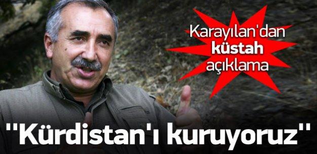 Küstah açıklama: Kürdistan'ı kurma sürecindeyiz